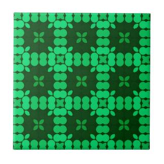 Muster Luise Grün Kleine Quadratische Fliese
