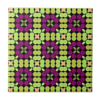 Muster LUISE grüne Pflaume Kleine Quadratische Fliese