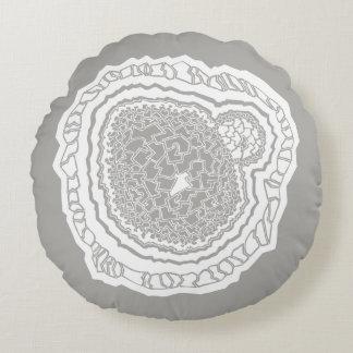Muster Mandala Geometrie Kern Rundes Kissen