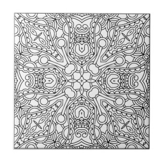 Muster-Mandala Kleine Quadratische Fliese
