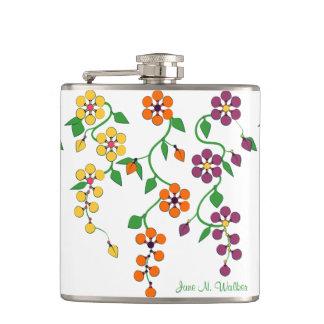 Muster NO.2: Hängende Blumen fertigten Flasche Flachmann