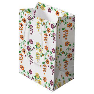 Muster NO.2: Hängende Blumen-Geschenk-Tasche Mittlere Geschenktüte