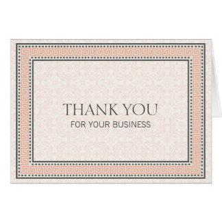 Muster u. Grenzen 1 danken Ihnen für Ihr Geschäft Mitteilungskarte