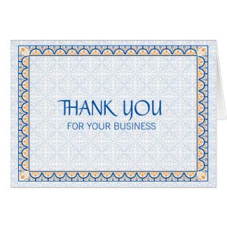 Muster u. Grenzen 2 danken Ihnen für Ihr Geschäft Mitteilungskarte