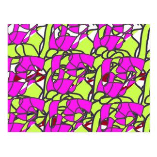 Musterfarberosa Postkarte