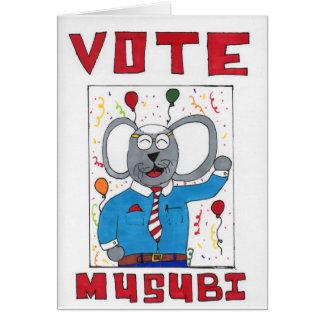 Musubi Maus, die für politisches Amt läuft Karte