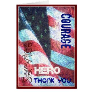 Mut - Held - danke Veteranen-Tageskarte Karte