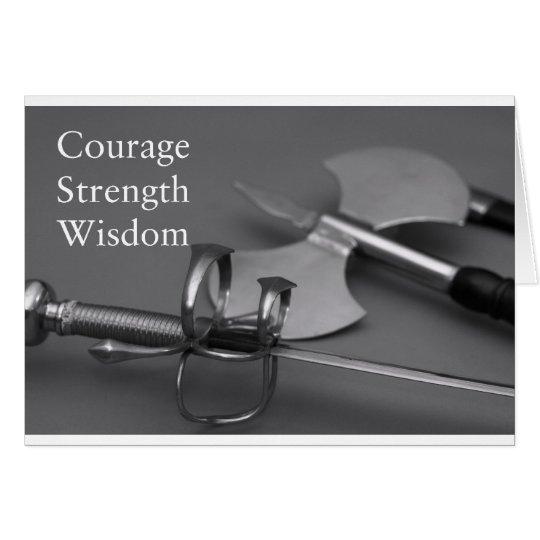 Mut-Stärken-Klugheit Grußkarte