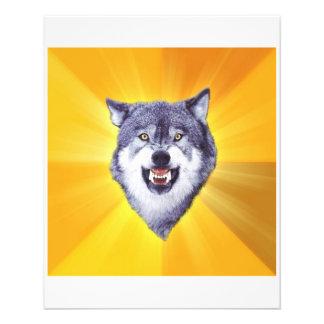 Mut-Wolf-Ratetier Meme Personalisierte Flyer