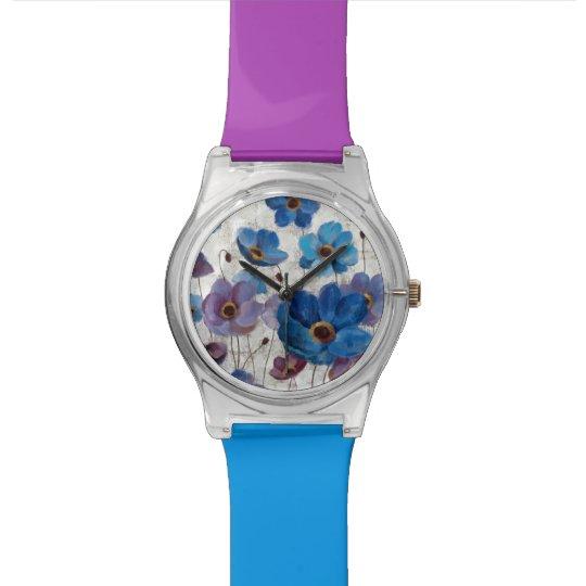 Mutige Anemonen Armbanduhr
