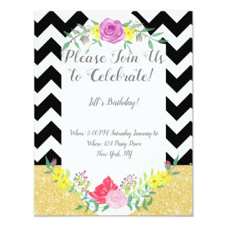 Mutige Dame Birthday Invitation Karte