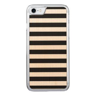 Mutige einfache Schwarzweiss-Streifen Carved iPhone 8/7 Hülle