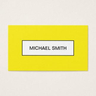 Mutige gelbe unbedeutende modische Visitenkarte