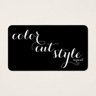 Mutige Salon-Empfehlungs-Karte - schneiden Sie Visitenkarten