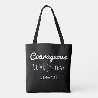 Mutige Taschen-Liebe größer als Furcht Tasche
