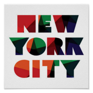 Mutige Typografie New York City | Poster