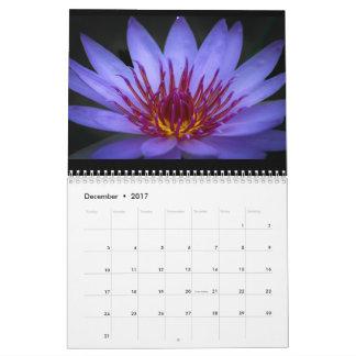 Mutiger bunter Inspirational Blumen-Kalender Kalender