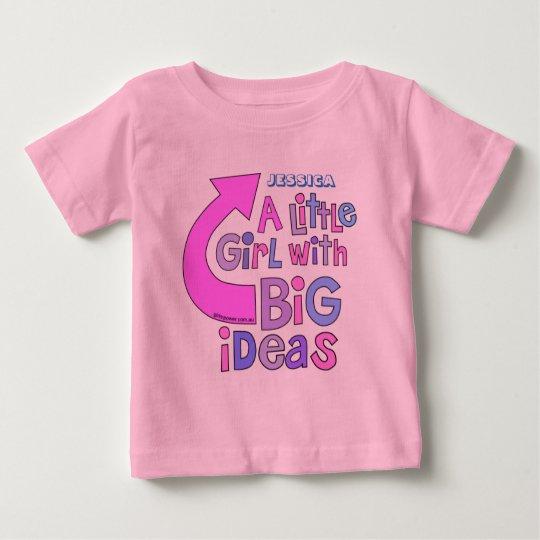 """Mutiger heller bunter """"große Ideen-"""" Entwurf des Baby T-shirt"""