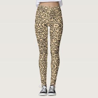 Mutiger Kaffee-Leopard-Tierkatzen-Druck Brown Leggings