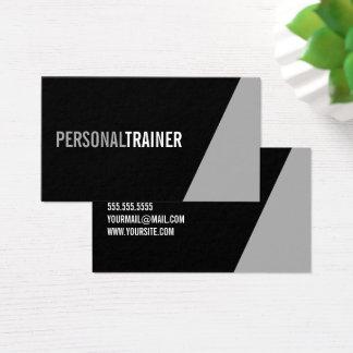 Mutiger persönlicher Schwarzweiss-Trainer Visitenkarte