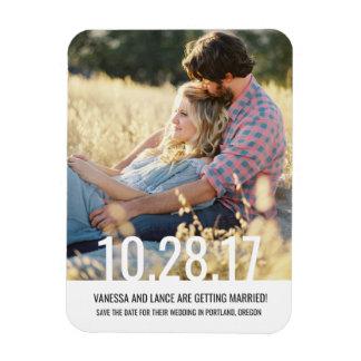 Mutiger Save the Date Foto Magnet \ HOCHZEITEN