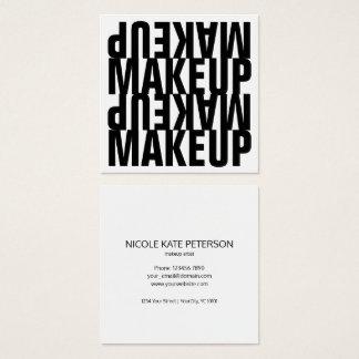 Mutiger Text-Schwarzweiss-Make-up Quadratische Visitenkarte