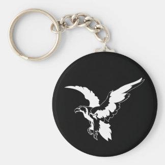 Mutiges Eagle Standard Runder Schlüsselanhänger