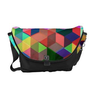 Mutiges geometrisches Würfel-Muster Kurier Taschen