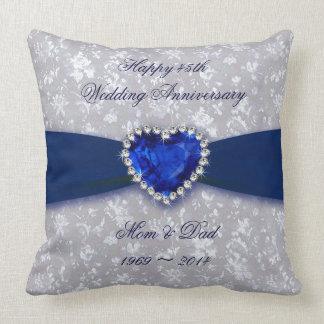 Mutiges Hochzeitstag-Wurfs-Kissen des Damast-45. Zierkissen