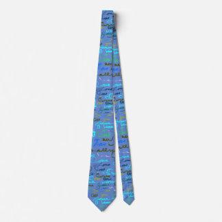 Mutiges modernes Graffiti-Liebe-Muster auf blauem Individuelle Krawatten