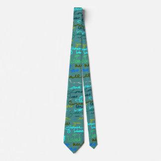 Mutiges modernes Graffiti-Liebe-Muster auf Personalisierte Krawatten