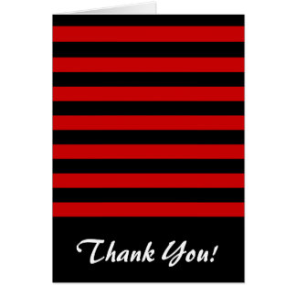 Mutiges schwarzes und rotes Streifen-Muster Karte