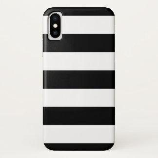 Mutiges Schwarzweiss-Streifen-Muster iPhone X Hülle
