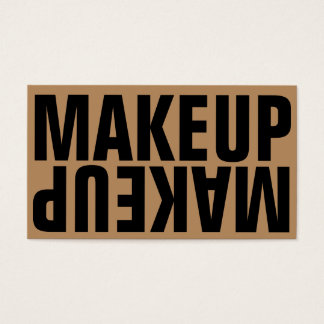 Mutiges Text-Goldschwarz-Make-up Visitenkarte