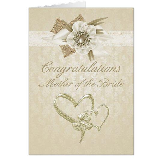 Mutter der Braut Glückwünsche kardieren Grußkarte