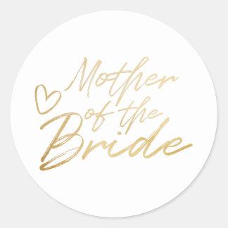 Mutter der Braut - GoldImitat vereitelt Aufkleber
