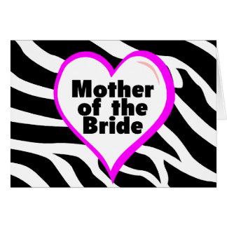 Mutter der Braut (Herzzebra-Streifen) Karte