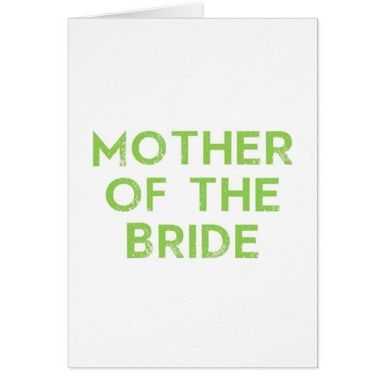 Mutter der Braut im Grün Grußkarte