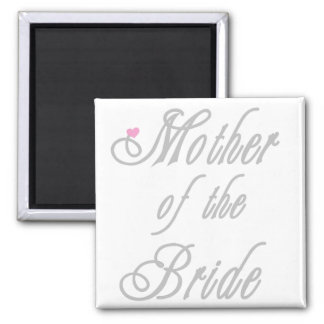 Mutter der Braut-noblen Grau Quadratischer Magnet