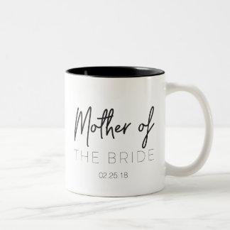 Mutter der Braut-Tasse Zweifarbige Tasse