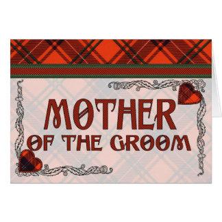 Mutter der Bräutigam-Einladung - Wemyss Tartan Karte
