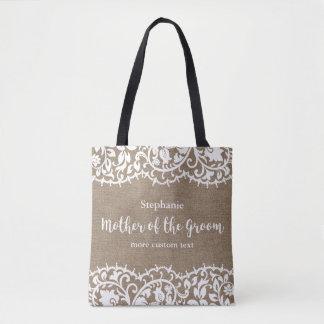 Mutter der Bräutigam-rustikalen Tasche