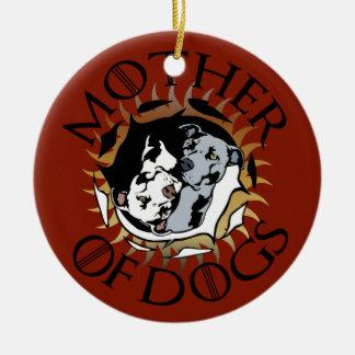 Mutter der Hundeverzierung Keramik Ornament