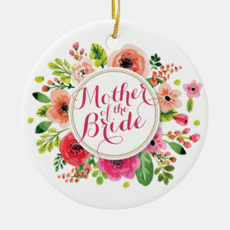 Mutter des Braut-Aquarells Wedding | Verzierung Keramik Ornament
