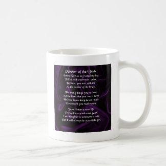 Mutter des Braut-Gedichtes - lila Seide Kaffeetasse