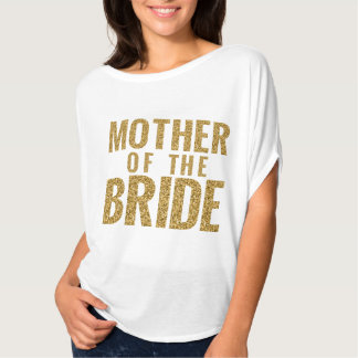 Mutter des Braut-Gold-SCHEIN Slouchy T-Stücks T-Shirt