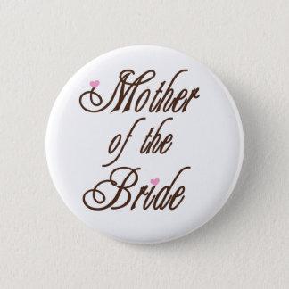Mutter des Braut-noblen Brauns Runder Button 5,1 Cm