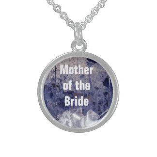 Mutter des Braut-rustikalen blauen Geschenks Sterlingsilber Halsketten