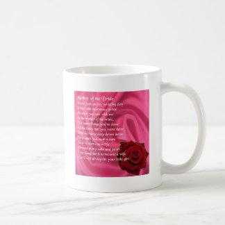 Mutter des Brautgedichtes - rosa Seide u. Rose Kaffeetasse