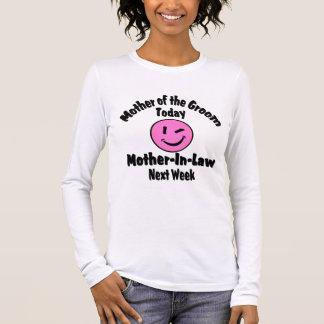 Mutter des Bräutigams Langarm T-Shirt